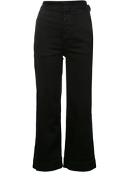 Mother High Waisted Trousers Black