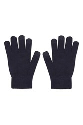 Topshop Knitted Gloves Navy Blue
