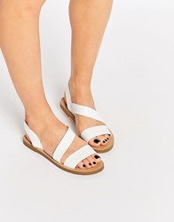 Pull And Bear Pullandbear Strappy Sandals White
