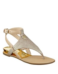 Guess Lacie Leather Sandals Natural