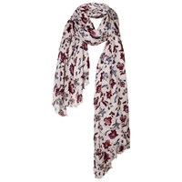 Fat Face Folk Floral Scarf Oatmeal Multi