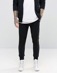 Diesel P Soul Sweat Pants Mesh Knee Black