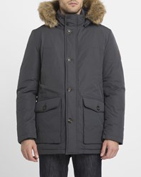 Tommy Hilfiger Black Hampton Removable Fur Collar Parka
