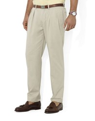 Polo Ralph Lauren Classic Fit Pleated Chino Pants Classic Stone