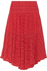 Preen Line Clare Embroidered Tulle Midi Skirt