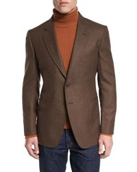 Tom Ford O'connor Base Box Check Sport Jacket Rust Brown