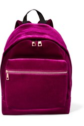 Sandro Avril Velvet Backpack Purple