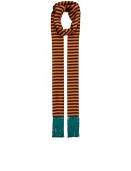 Haider Ackermann Orange Silk Striped Barton Scarf
