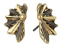 Sam Edelman Etched Fan Stud Earrings Gold Earring