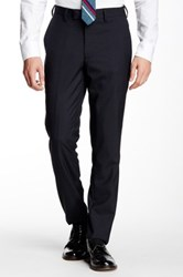 Louis Raphael Mini Check Slim Fit Pant Blue
