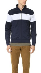 Lacoste Zip Track Jacket Navy Blue White