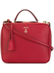 Mark Cross Zipped Tote Red