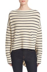 Brochu Walker Women's Reir Stripe Wool And Cashmere Asymmetrical Pullover