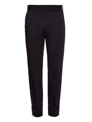 Gucci Turn Up Hem Cotton Twill Trousers