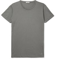 Tomas Maier Slim Fit Organic Cotton Jersey T Shirt Gray
