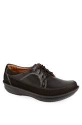 Alegria 'Hewlett' Moc Toe Nubuck Leather Oxford Men Black Nubuck