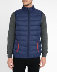 M.Studio Navy Anatole Ultralight Down Jacket With Red Details