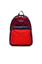 Marc By Marc Jacobs Crosby Quilt Colorblock Backpack Burgundy