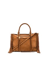 Rebecca Minkoff Fringe Regan Satchel Brown