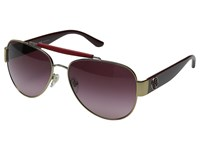 Tory Burch 0Ty6043q Gold Bordeaux Burgundy Gradient Fashion Sunglasses
