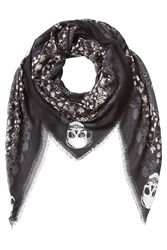 Zadig And Voltaire Printed Scarf Black