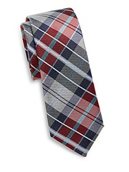 Original Penguin Kreider Plaid Tie Red