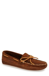 Minnetonka Suede Sole Moccasin Brown
