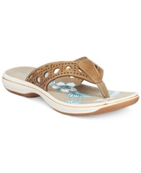Easy Street Shoes Easy Street Tropic Flip Flop Sandals Women's Shoes Taupe Crocco