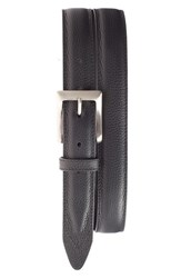 Men's Will Leather Goods Trapunto Feather Edge Belt Black
