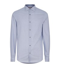 Michael Kors Graphic Print Slim Shirt Male Blue