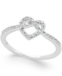 Macy's Diamond Heart Ring 1 4 Ct. T.W. In 14K White Gold