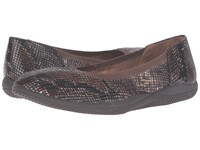 Softwalk Hampshire Brown Python Women's Flat Shoes