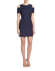 1.State Seamed Cutout Shoulder Dress Navy