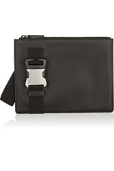 Christopher Kane Safety Buckle Textured Leather Clutch