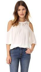 Ella Moss Olivier Cold Shoulder Blouse Natural