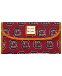 Dooney And Bourke South Carolina Gamecocks Ncaa Large Continental Clutch Maroon