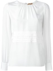 N 21 No21 Lace Trim Blouse White