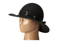 San Diego Hat Company Pbm1029 Crochet Floppy Hat With Grommets Black Caps