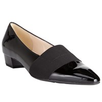 Peter Kaiser Lagos Pointed Toe Court Shoes Black Patent
