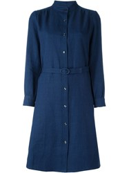A.P.C. Belted Shirt Dress Blue