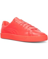 Puma Men's Basket Classic Patent Emboss Casual Sneakers From Finish Line Red Blast