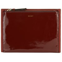 Dkny Smooth Leather Small Clutch Bag Scarlet