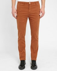 M.Studio Caramel Noa Fitted Cotton Chinos