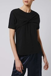 Twist Front Tee By Boutique Black