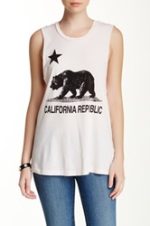 Rebel Yell California Republic Muscle Tee Beige
