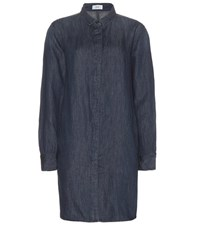 Closed Cotton And Linen Shirt Dress Blue