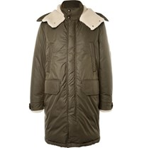 Moncler Grafton Shearling Trimmed Shell Down Parka Army Green