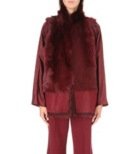 Karl Donoghue Reversible Faux Fur And Leather Gilet Burgundy