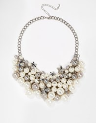 Oasis Faux Pearl And Star Cluster Necklace Mixedplate