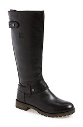 Women's Naturalizer 'Tanita' Boot Black Leather Wide Calf